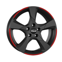 CMS C18 18x8 Matt Black Red