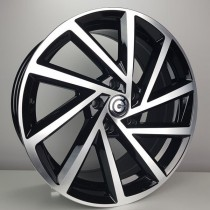 Carbonado Coin 18x8 5x112 ET45 57,1 black polished