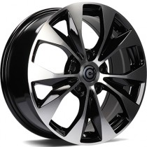 Carbonado Rose 17x7 5x114,3 black polished