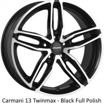 Carmani 13 Twinmax black polished 20x9
