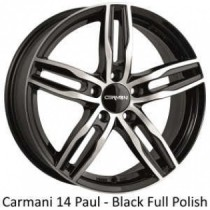 Carmani 14 Paul black polished 16x6,5