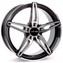 Carmani 15 Oskar 18x7,5 black polished
