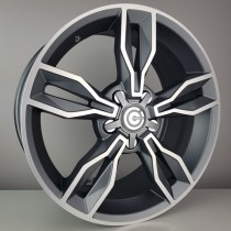 Carbonado Castle 17x7,5 5x112 ET35 66,45 anthracite polished
