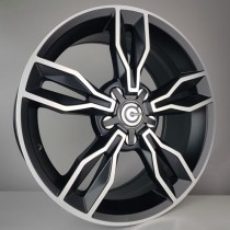 Carbonado Castle 17x7,5 5x112 ET35 66,45 black polished