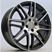 4Racing Combo 17x7 4x100 ET42 60,1 black polished AA8111