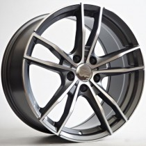 "4Racing Corpus 19"" 5x120 72,6 anthracite polished"