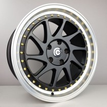 Carbonado Curve 17x8 5x112 ET35 66,6 black lip polished