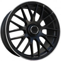 Carbonado Dark 19x8,5 5x112 ET45 66,6 black matt lip polished