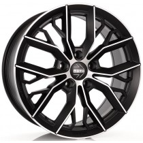 Momo Massimo 17x7,5 Black polished