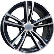 Carbonado Dual 17x8 5x120 ET30 72,6 black polished