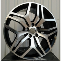R Line DW5316 black polished 21x9.5 5x108 ET45 63.3