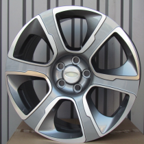 R Line LDW6052 anthracite polished 20x9 5x120 ET50 72,6