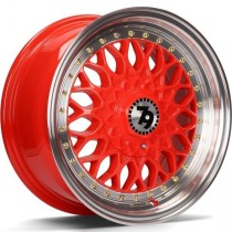 Seventy9 SV-E 17x7,5 5x112/120 ET35 72,6 red lip polished