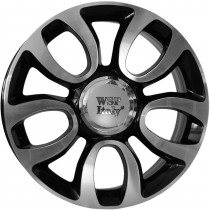 WSP Italy Ercolano 17x7 5x98 ET41 58,1 glossy black polished