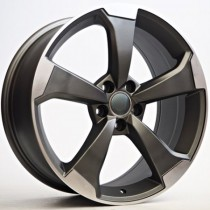 4Racing Fade 19x8,5 5x112 ET35 66,6 anthracite polished