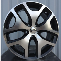 R Line FE137 black polished 17x6,5 5x114,3 ET40 67,1