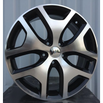 R Line black polished KIFE137 18x7 5x114,3 ET45 67,1