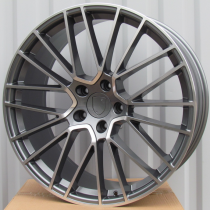 R Line PFE179 anthracite polished 22x11,5 5x130 ET61 71,56