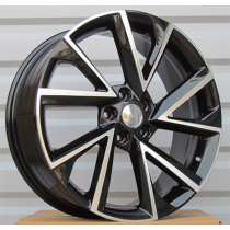 R Line FE181 black polished 18x7.5 5x112 ET43 57.1