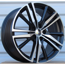 R Line FE182 black polished 18x8 5x108 ET45 63.3