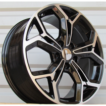 R Line FE190 black polished 17x7 5x114.3 ET48.5 67.1