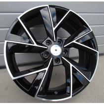 R Line FE211 black polished 18x7 5x112 ET43 57.1