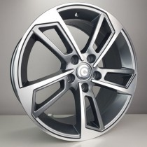 Carbonado Flame 18x8 5x112 ET45 66,45 anthracite polished