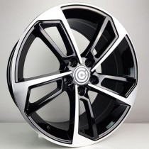 Carbonado Flame 17x7,5 5x112 ET40 66,45 black polished