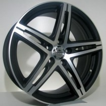 4Racing Forval 16x7 mat black polished