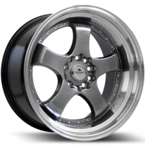 Forzza Flamber 18x9,5 5x114,3/120 hyper black polished lip