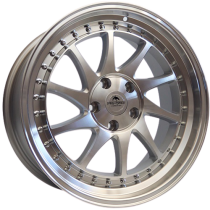Forzza Space 18x8,5 5x114,3 ET35 73,1 silver polished