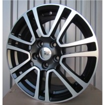 R Line FOFR646 matt black polished 17x7,5 5x108 ET50 63,3