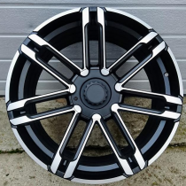 R Line PFR683 black polished 20x9,5 5x130 ET50 71,56
