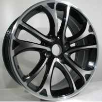 4Racing Fumito 17x7 4x108 ET25 65,1 black polished LU450