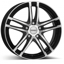 Dezent TZ dark black polished 18x7