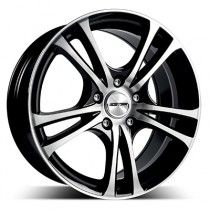 GMP Easy 17x7,5 5x108 ET42 73,1 black polished