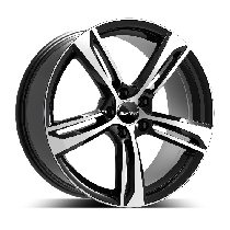 GMP Paky 18x7,5 5x112 ET45 66,5 black polished