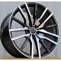 R Line H0324 black polished 22x10.5 5x112 ET43 66.6
