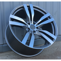 R Line HE5175 antharcite polished 20x11 5x120 ET37 74.1