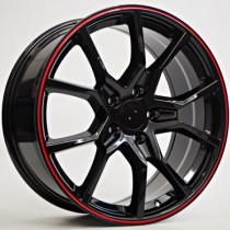 4Racing HO10 black/red lip 18x8 5/114,3 ET41 67,1 BY1418