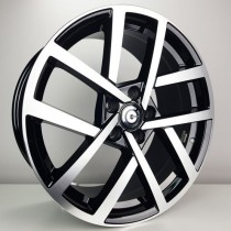 Carbonado Coin 17x7,5 5x112 ET40 57,1 black polished