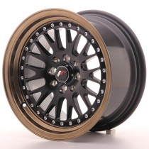Japan Racing JR10 15x8 matt black bronze lip