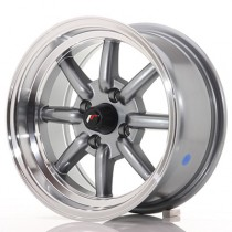 jJapan Racing JR19 14x9 4x100 ET-25 gun metal