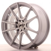 Japan Racing JR21 17x7 silver machined