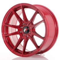 Japan Racing JR21 17x8 platinum red