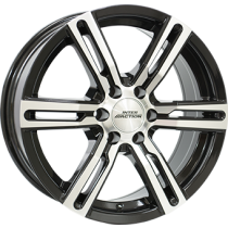Inter Action Kargin 6 18x8 black polished