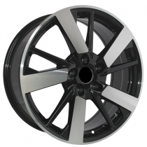 R Line KIKI139 black polished 18x7 5x114,3