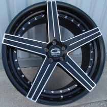 R Line BLU960 black polished 22x9 5x120 ET30 74,1