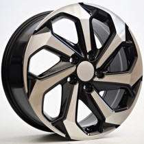 4Racing Luna 17x7,5 5x114,3 ET55 64,1 black polished