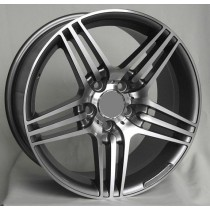R Line M013 grey polished 16x7,5 5/112 ET35 66,6